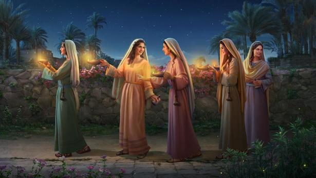 Jesus at the door knocking, how to Be a Wise Virgin and Welcome the Bridegroom