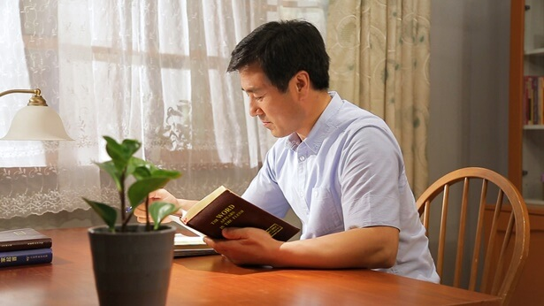 A Christian is reading God's Word